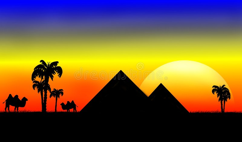 Twee piramides royalty-vrije illustratie