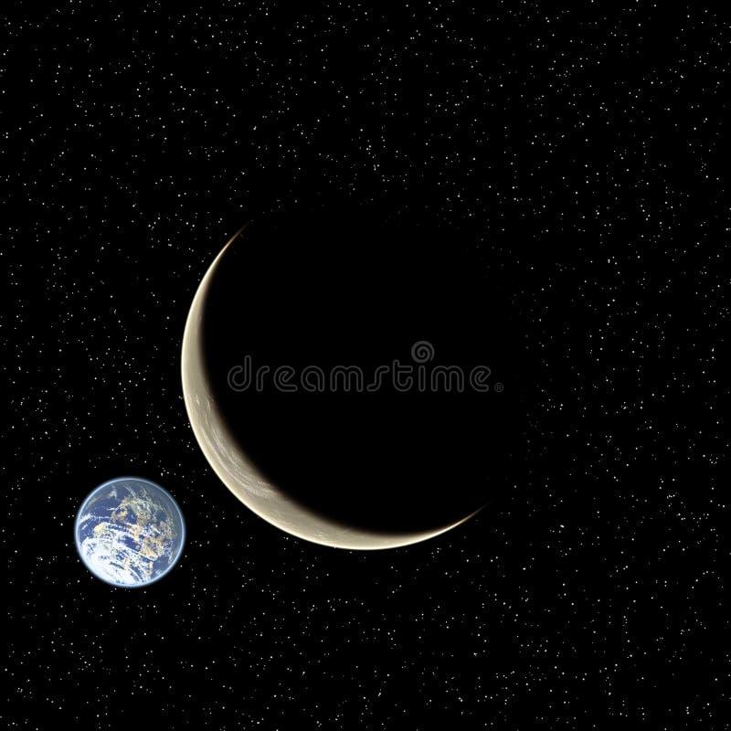 Twee planeten stock illustratie
