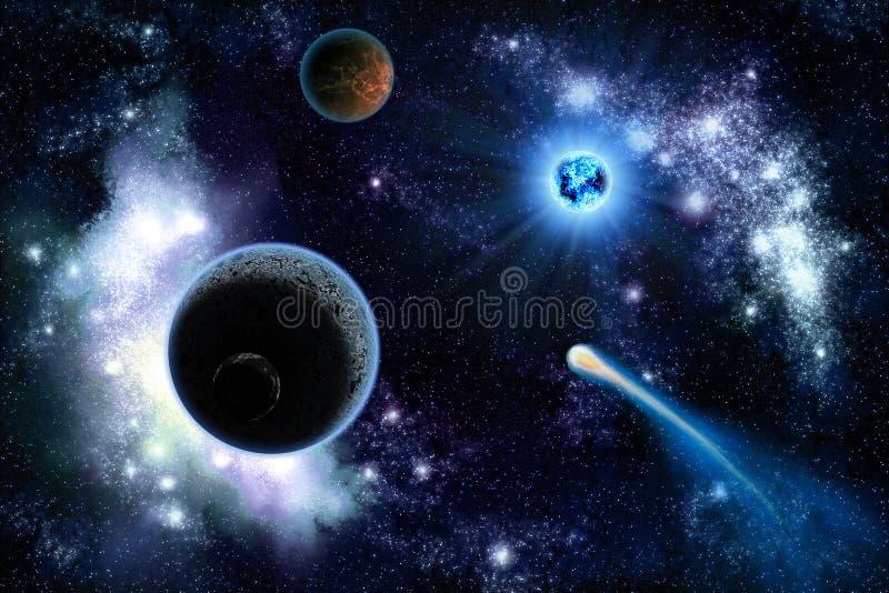 Twee planetenzonnestelsel stock illustratie