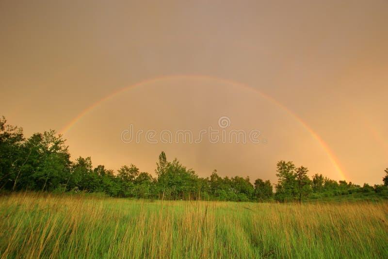 Twee regenbogen royalty-vrije stock fotografie
