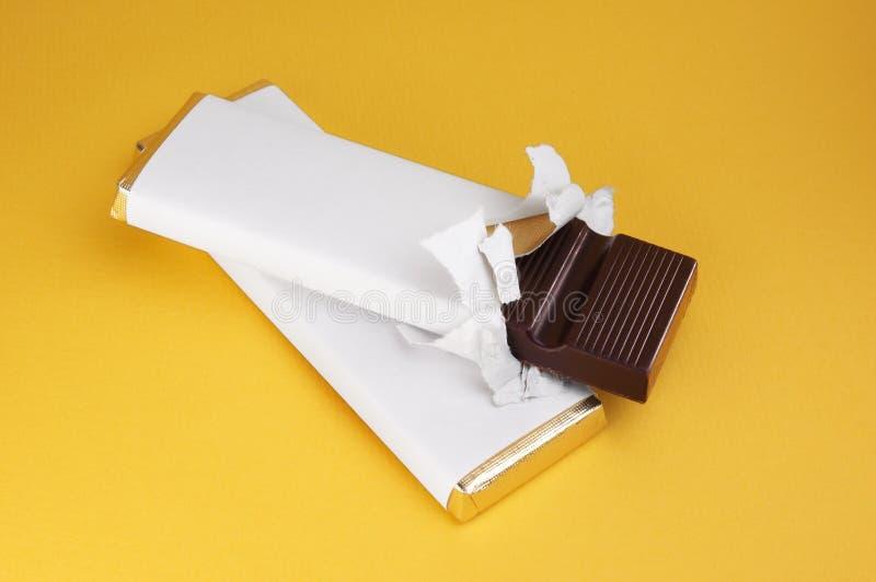 Twee repen chocolade royalty-vrije stock foto