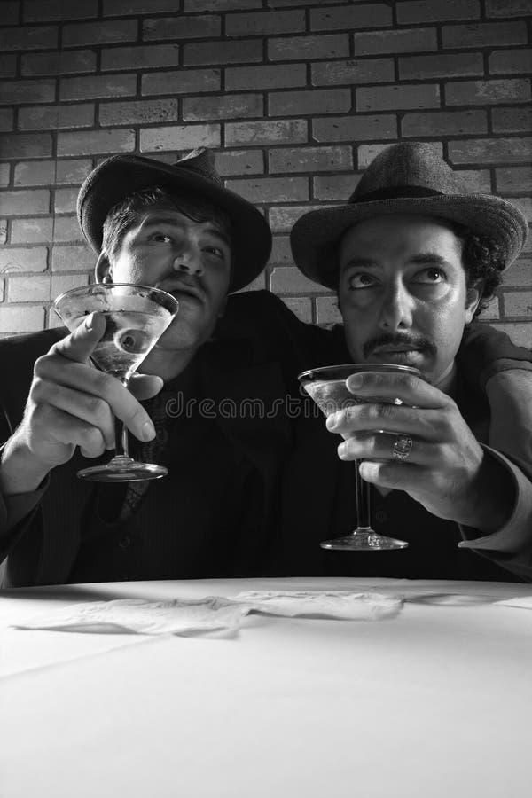 Twee retro zakenlieden. royalty-vrije stock foto