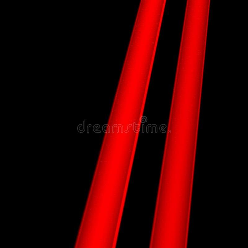 Twee rode lijnen stock illustratie