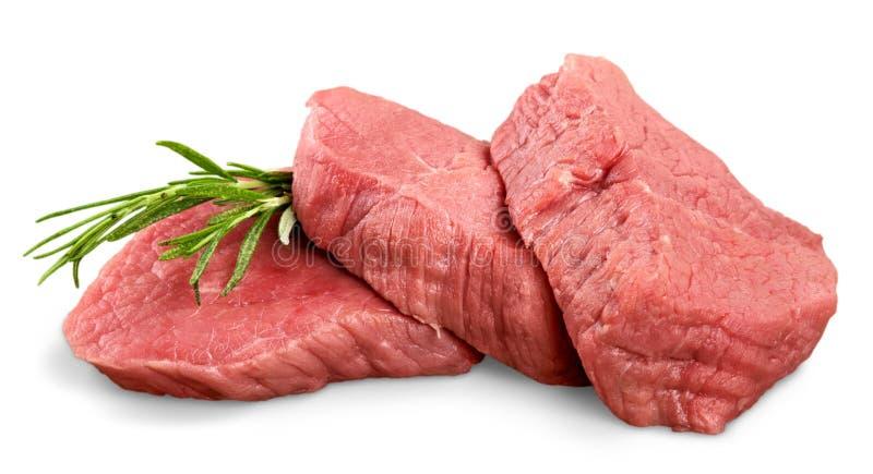 Twee ruwe lapjes vlees stock foto's