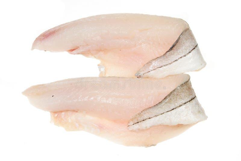 Twee schelvissenfilets stock foto