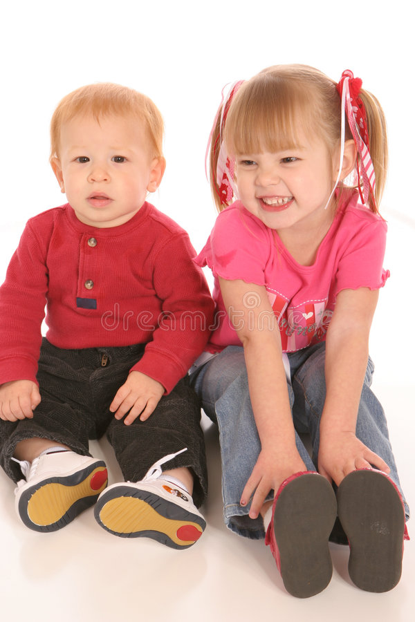Twee Siblings  royalty-vrije stock foto's