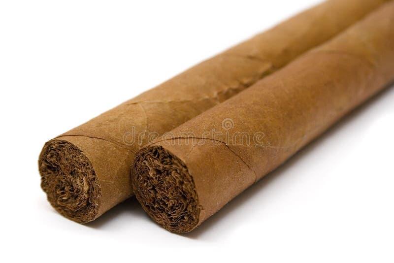 Twee Sigaren (Dichte Mening) stock foto's