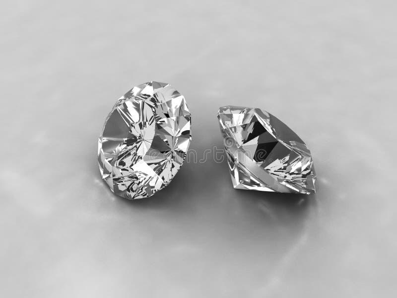 Twee snijden diamanten royalty-vrije illustratie