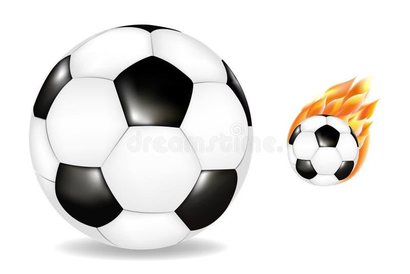 Twee Soccerballs vector illustratie