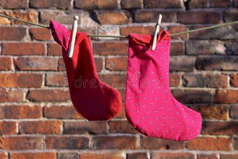Twee sokken royalty-vrije stock afbeelding