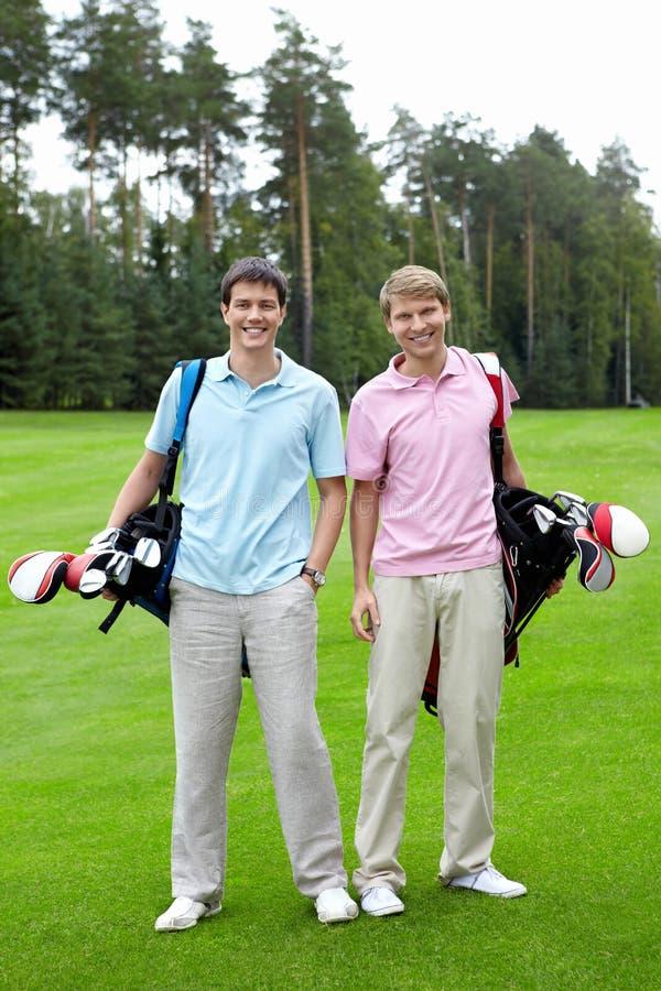Twee spelers royalty-vrije stock afbeeldingen
