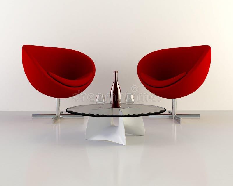 Twee stoelen stock illustratie