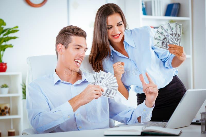 Twee Succesvolle Partners stock foto