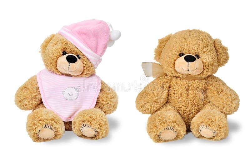 Twee teddyberen - tweelingen royalty-vrije stock foto's