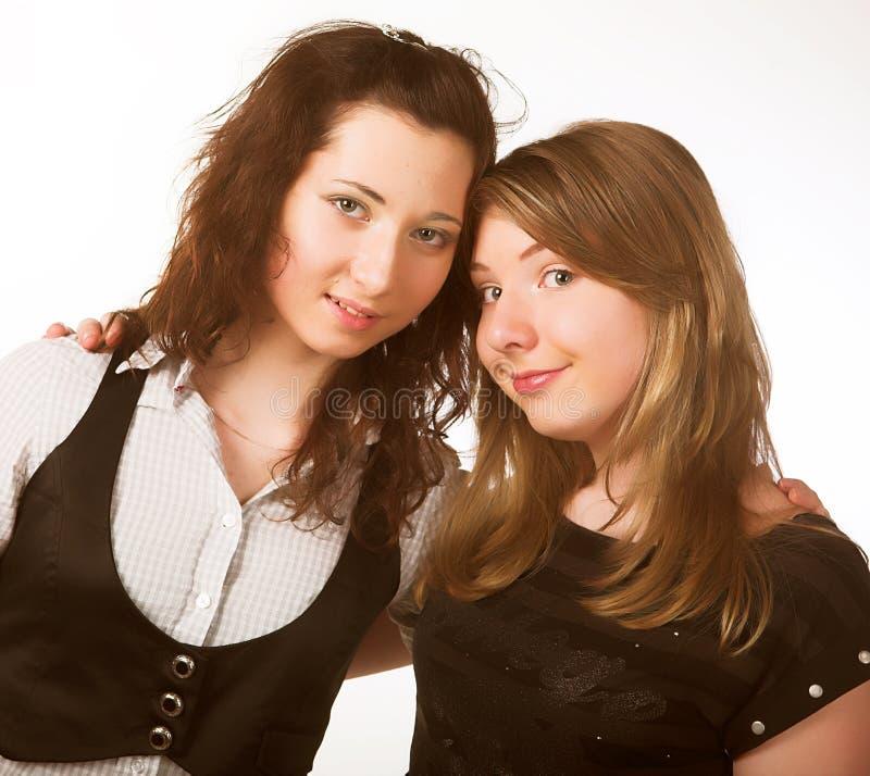 Twee tieners stock afbeelding