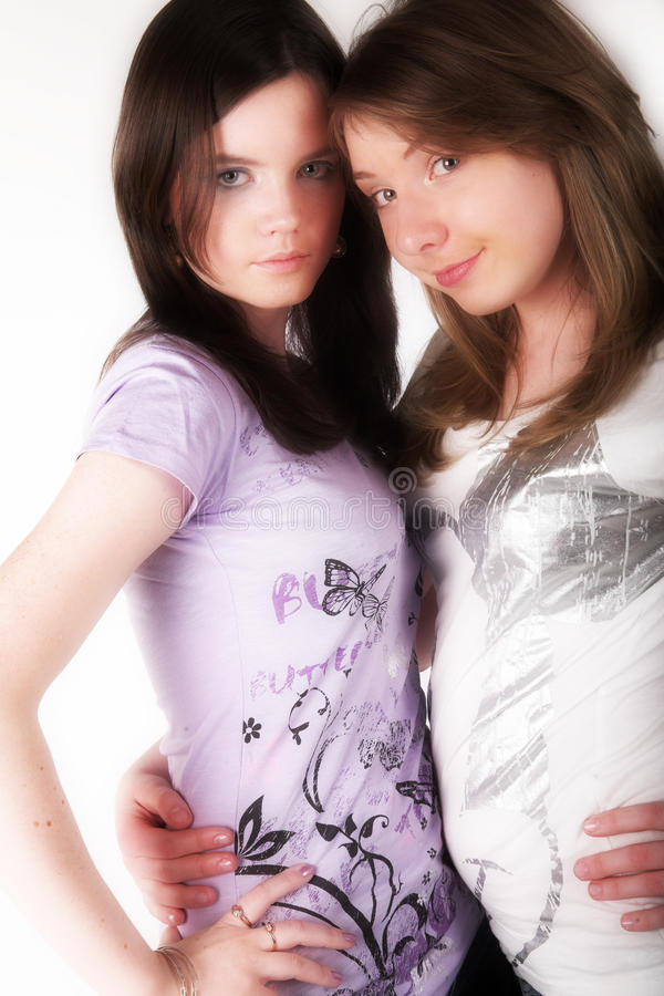 Twee tieners royalty-vrije stock foto