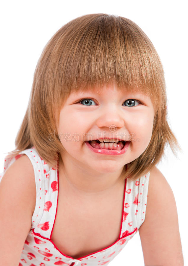 Twee van het oude babyjaar meisje stock afbeelding