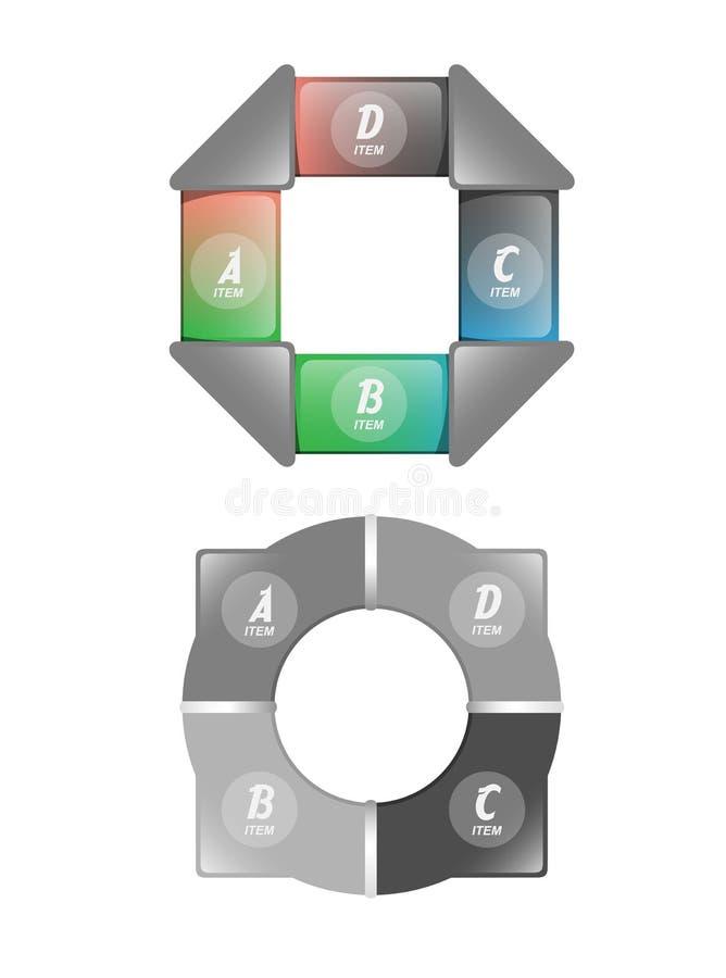Twee vector bedrijfselement om gegevens te demonstreren vector illustratie