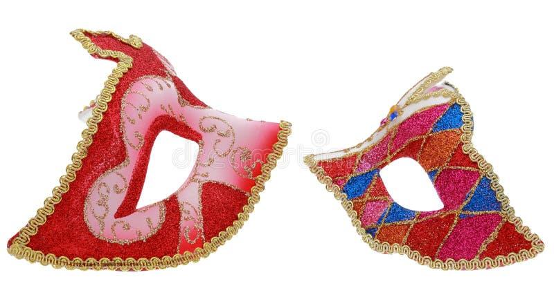 Twee Venetiaanse maskers royalty-vrije stock fotografie