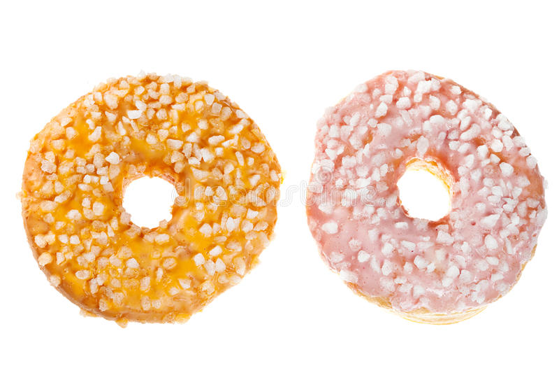 Twee Verglaasde Donuts royalty-vrije stock foto's