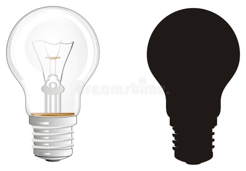 Twee verschillende gloeilampen vector illustratie