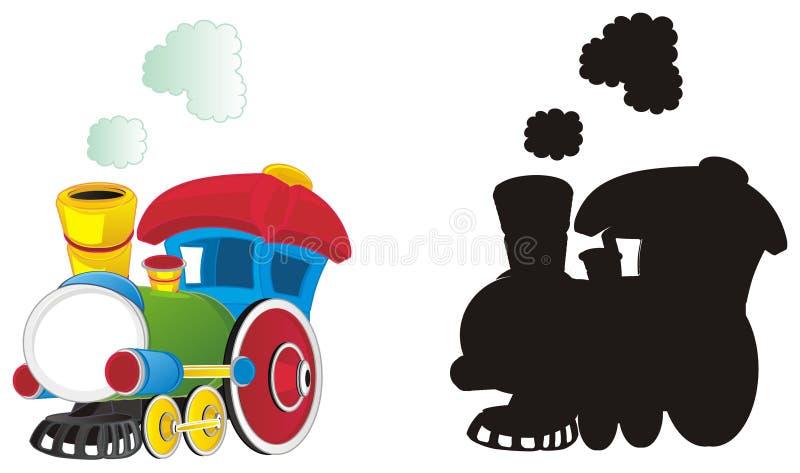 Twee verschillende stuk speelgoed treinen royalty-vrije illustratie