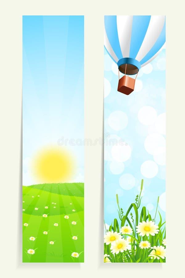 Download Twee Verticale Banners Met Aard Vector Illustratie - Illustratie bestaande uit hemel, land: 39115019