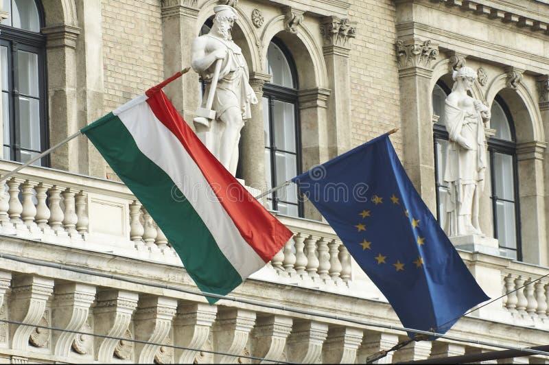 Twee vlaggen stock foto