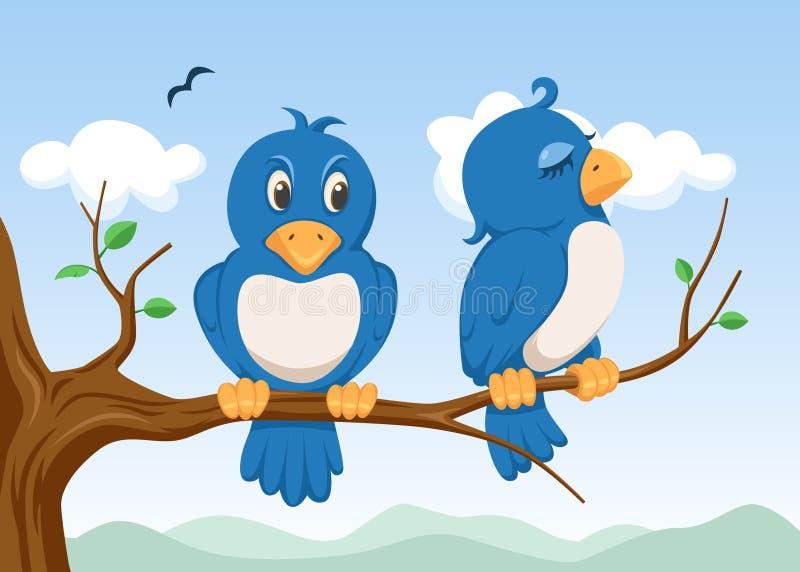 Twee vogels stock illustratie