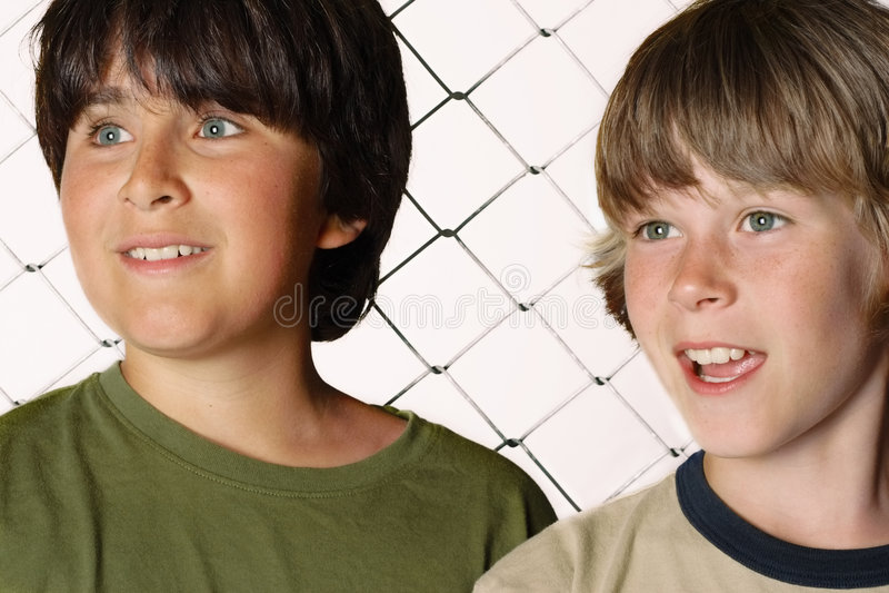 Twee vrienden stock afbeelding
