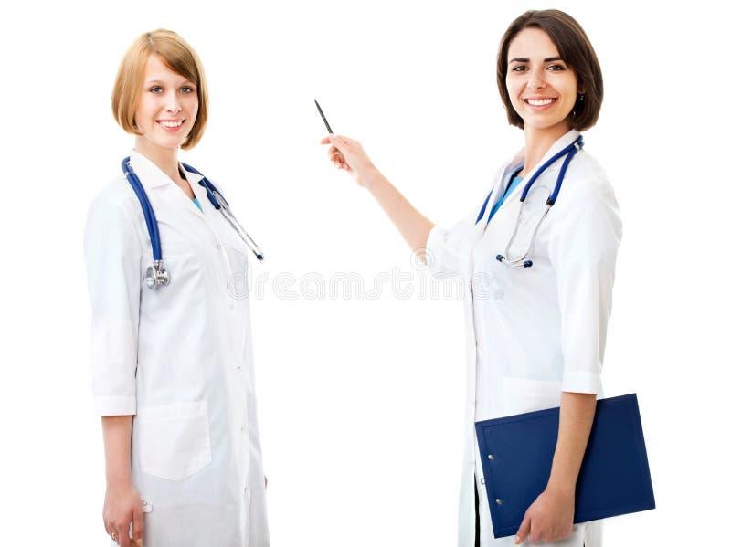 Twee vrij vrouwelijke artsen stock fotografie