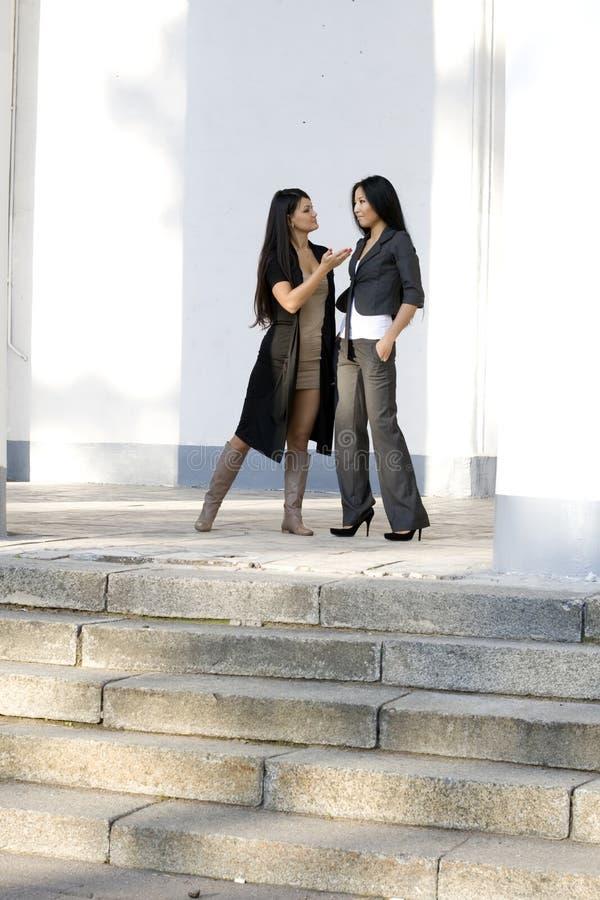 Twee vrouwelijke vrienden stock afbeelding