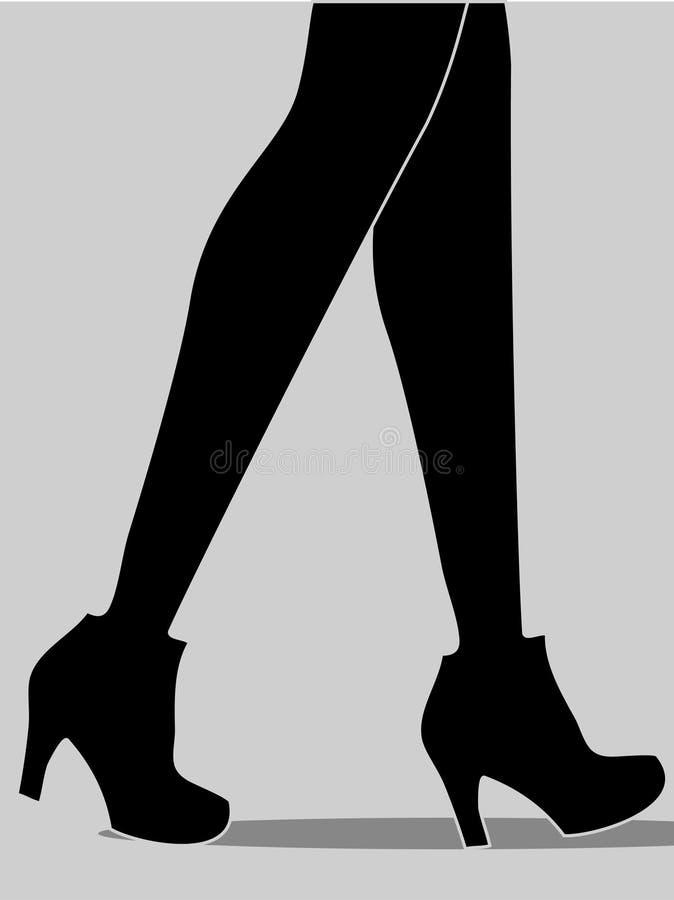 Twee vrouwen die benen lopen vector illustratie