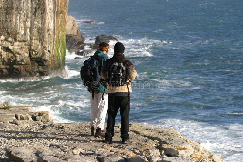Twee Wandelaars stock afbeeldingen