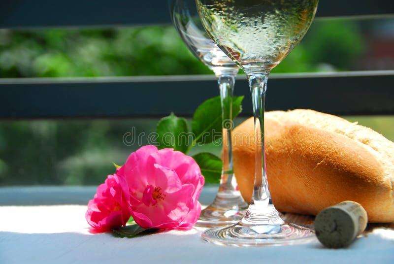 Twee wijnglazen stock foto