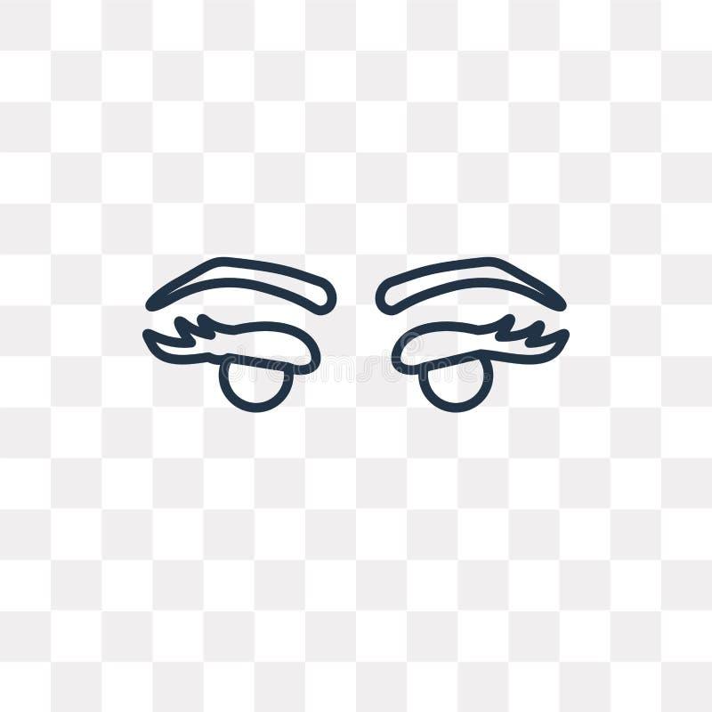Twee Wimpers vectordiepictogram op transparante achtergrond, Li wordt geïsoleerd stock illustratie