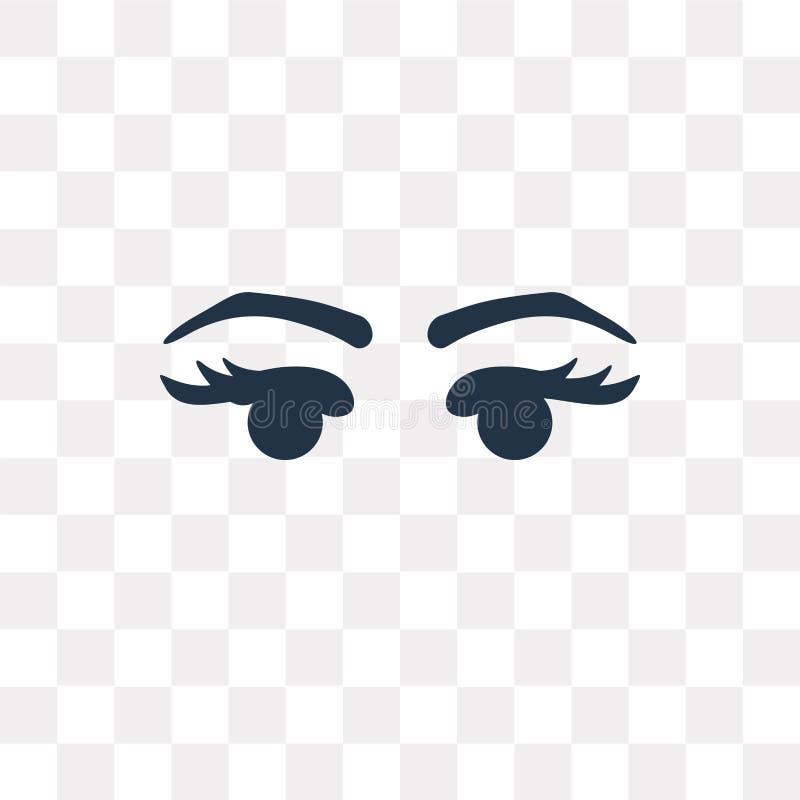 Twee Wimpers vectordiepictogram op transparante achtergrond, Tw wordt geïsoleerd stock illustratie