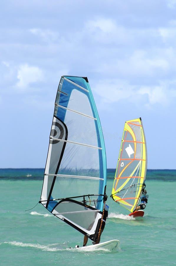 Twee Wind Surfer royalty-vrije stock afbeeldingen