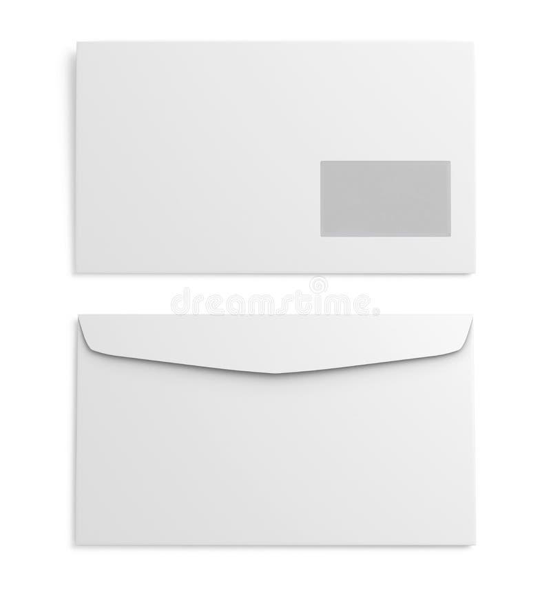 Twee Witboekenvelop op witte achtergrond het 3d teruggeven vector illustratie