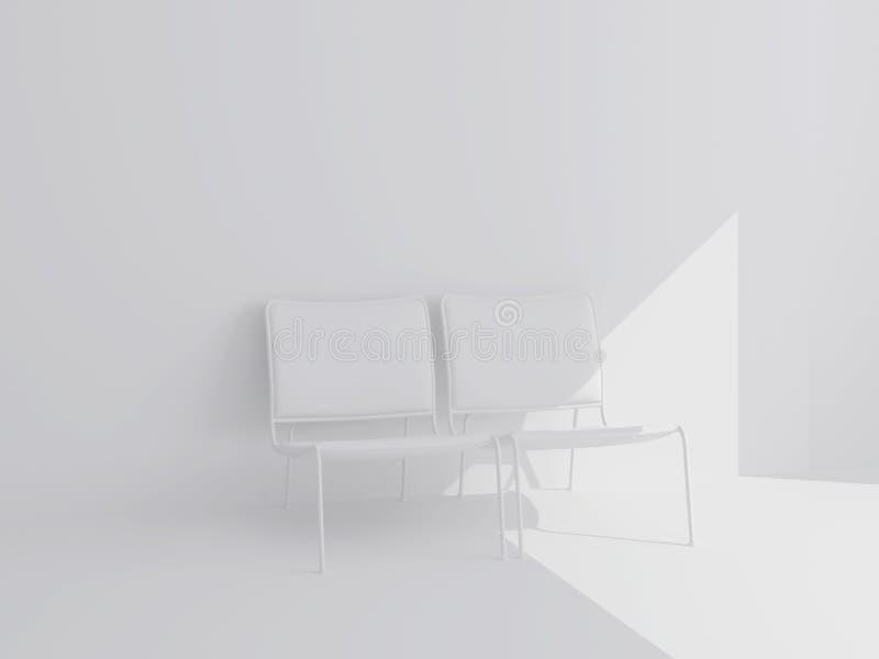 Witte Stoelen Design.Twee Witte Stoelen Stock Illustratie Illustratie Bestaande Uit