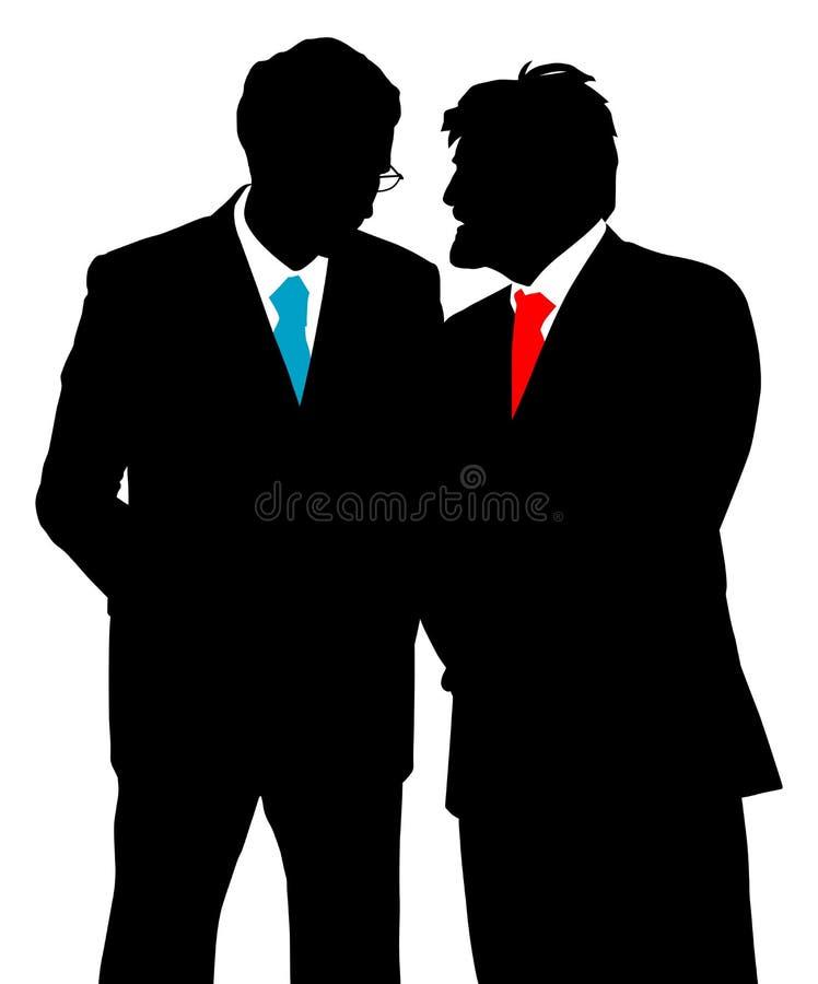 Twee zakenlieden het spreken royalty-vrije illustratie
