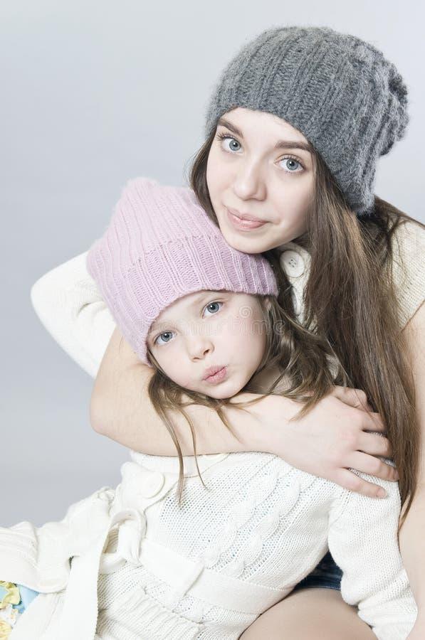 Twee zusters royalty-vrije stock afbeelding