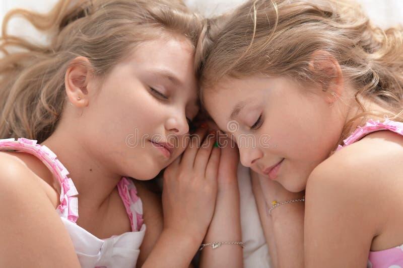 Twee zusterstweelingen stock afbeelding