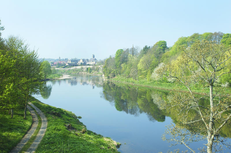 Tweed del río en Coldstream fotos de archivo libres de regalías