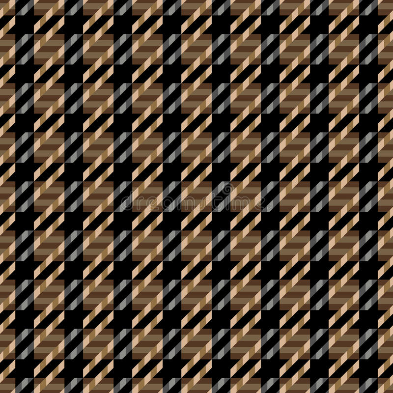 Tweed Texture_Brown. Seamless tweed texture pattern in browns and black vector illustration