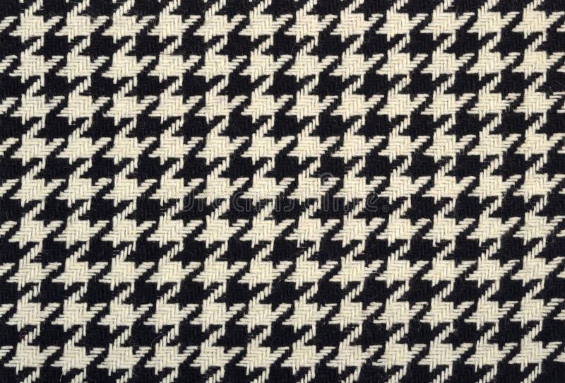 Tweed wełny tkaniny gęsia nożna tekstura obrazy stock