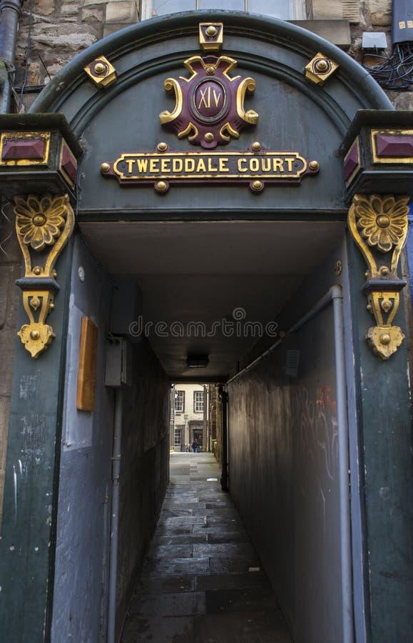 Tweeddale domstol i Edinburg arkivfoto