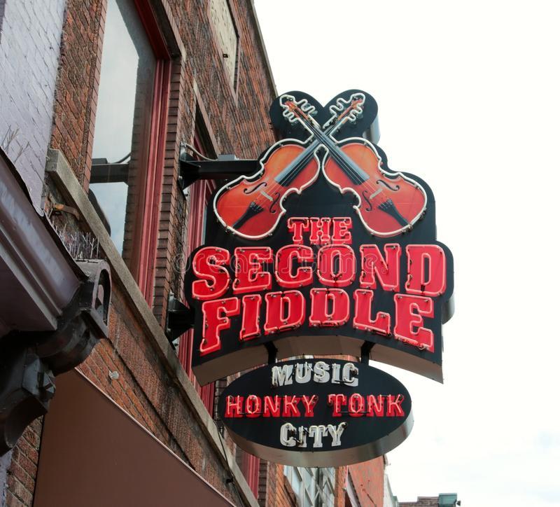 Tweede Fiddle, Live Entertainment Venue Nashville royalty-vrije stock fotografie