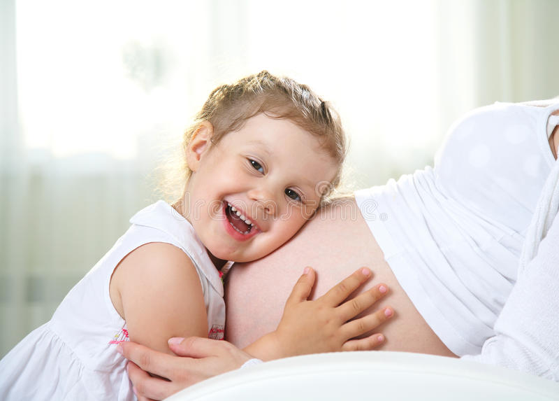Tweede zwangerschap royalty-vrije stock afbeelding