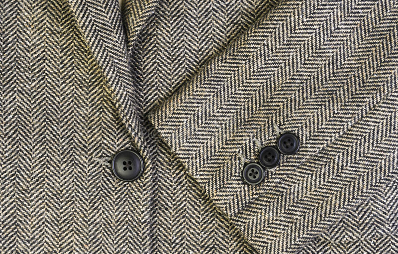 Tweedfrauenjacke mit Nahaufnahme stockbild